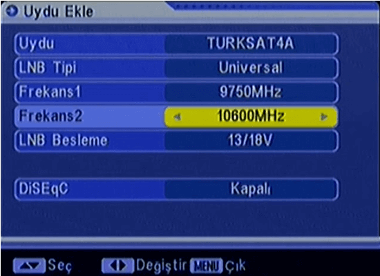 Uydu Cihazı Kanal Tarama title=